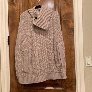 Anthropologie knit poncho